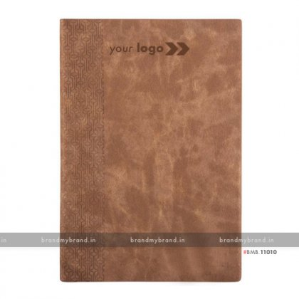 Personalized Light Brown - Hard Cover A5 Notebook