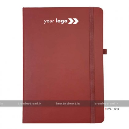 Personalized Maroon (PU) - Hard Cover A5 Notebook