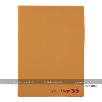 Personalized Orange - Hard Cover A5 Notebook