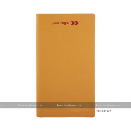 Personalized Orange - hard Cover B6 Notebook