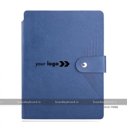 Personalized Pen Holder with Loopi - Blue - Soft Cover A5 Notebook