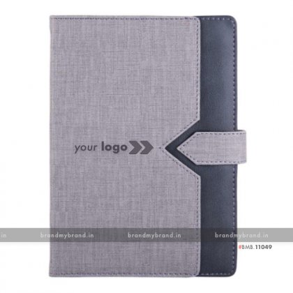 Personalized Pocket Arrow Loopi - Grey - Hard Cover A5 Notebook