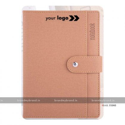 Personalized Pocket Loopi - Beige - Hard Cover A5 Notebook