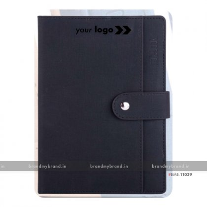 Personalized Pocket Loopi - Black - Hard Cover A5 Notebook