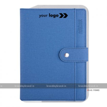 Personalized Pocket Loopi - Blue - Hard Cover A5 Notebook