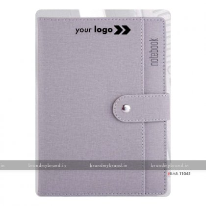 Personalized Pocket Loopi - Grey - Hard Cover A5 Notebook