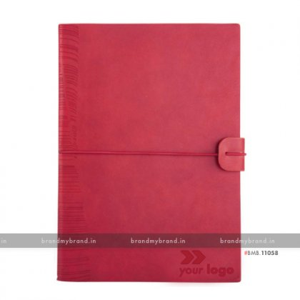 Personalized Red - Elastic Lock Premium - Soft Cover A5 Notebook