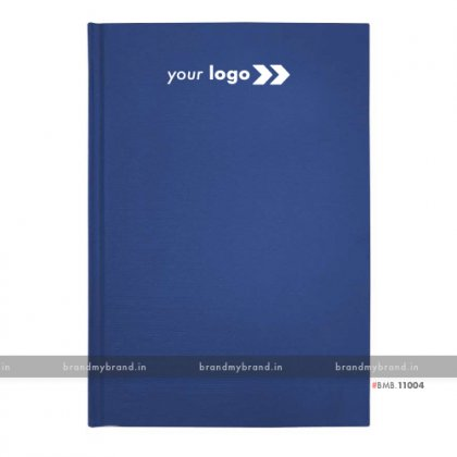 Personalized Sky Blue Texture Paper - Hard Cover A5 Notebook