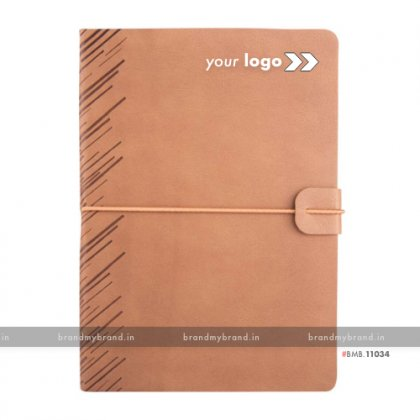 Personalized Soft Elastic -Beige - Soft Cover A5 Notebook