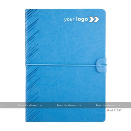 Personalized Soft Elastic -Sky Blue - Soft Cover A5 Notebook