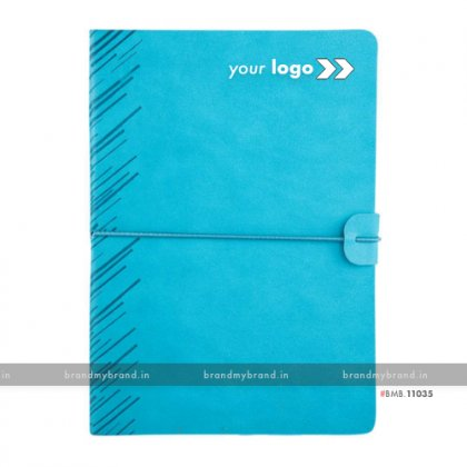 Personalized Soft Elastic -Turqoise - Soft Cover A5 Notebook