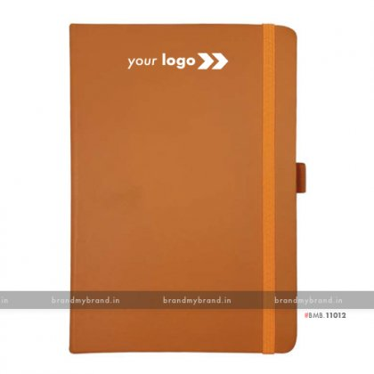 Personalized Tan (PU) - Hard Cover A5 Notebook