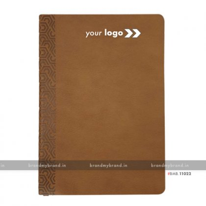 Personalized Tan (textured) - Soft Cover A5 Notebook