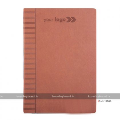 Personalized Tan - Hard Cover A5 Notebook