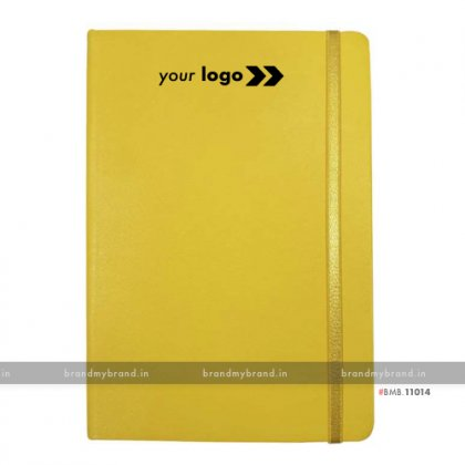 Personalized Yellow (PU) - Hard Cover A5 Notebook