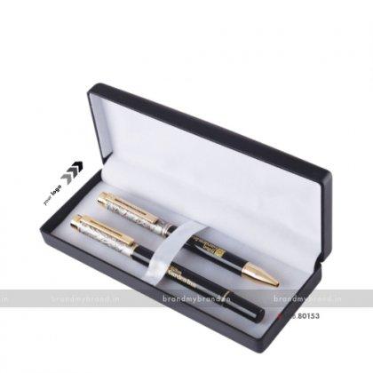 Personalized Metal Pen Set- BradFord White