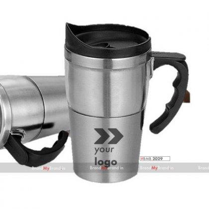 Personalized Dual Transparent Steel Mug (400 Ml)