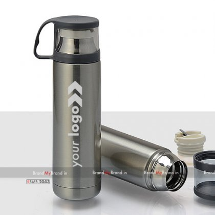 Personalized Steel Flask With Cup (500 Ml)