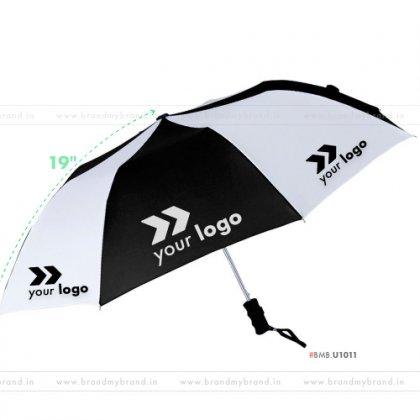 Black and White Umbrella -21 inch, 2 Fold