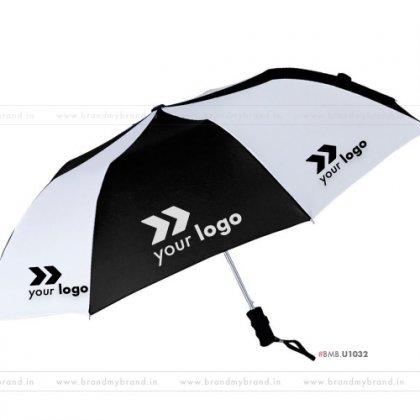 Black and White Umbrella -24 inch, 2 Fold