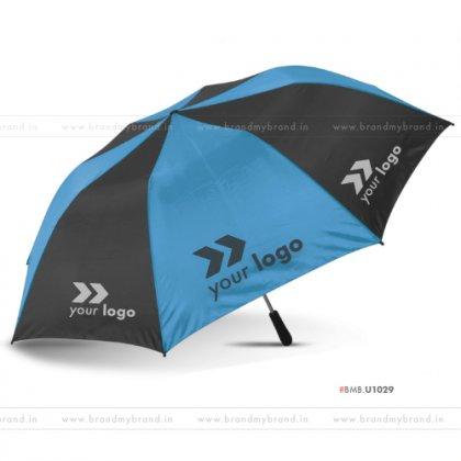 Light Blue and Black Umbrella -24 inch, 2 Fold