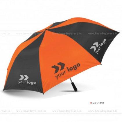 Orange and Black Umbrella -24 inch, 2 Fold