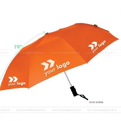 Orange Umbrella -21 inch, 2 Fold