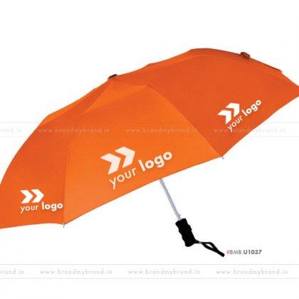 Orange Umbrella -24 inch, 2 Fold