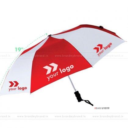 Red and White Umbrella -21 inch, 2 Fold