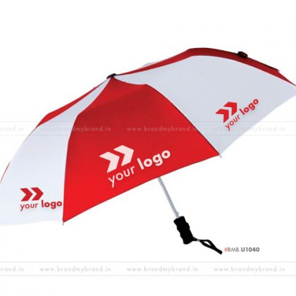 Red and White Umbrella -24 inch, 2 Fold