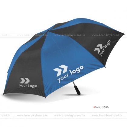 Royal Blue and Black Umbrella -24 inch, 2 Fold