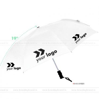 White Umbrella -21 inch, 2 Fold