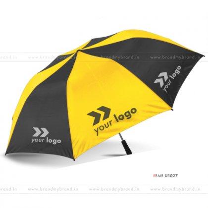 Yellow and Black Umbrella -24 inch, 2 Fold