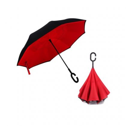 Personalized Inverted Umbrella With Hands-free C Handle