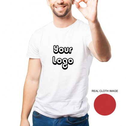 Personalized White Promotional T-Shirt (Round Neck) / Micro Polyster - Dry Fit