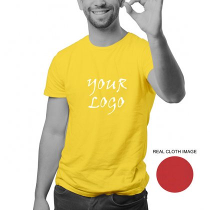 Personalized Lemon Yellow Promotional T-Shirt (Round Neck) / Micro Polyster - Dry Fit