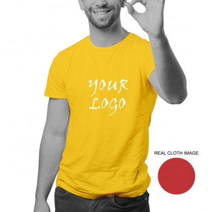 Personalized Golden Yellow Promotional T-Shirt (Round Neck) / Micro Polyster - Dry Fit