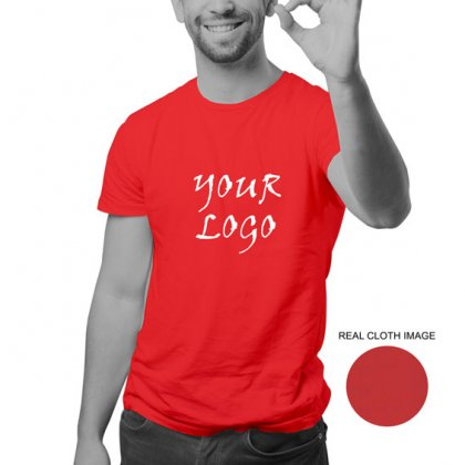 Personalized Red Promotional T-Shirt (Round Neck) / Micro Polyster - Dry Fit