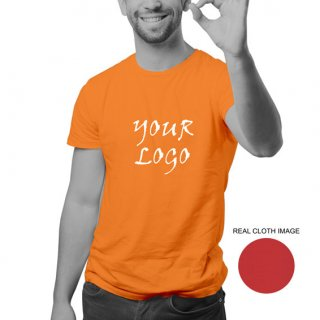 Personalized Orange Promotional T-Shirt (Round Neck) / Micro Polyster - Dry Fit