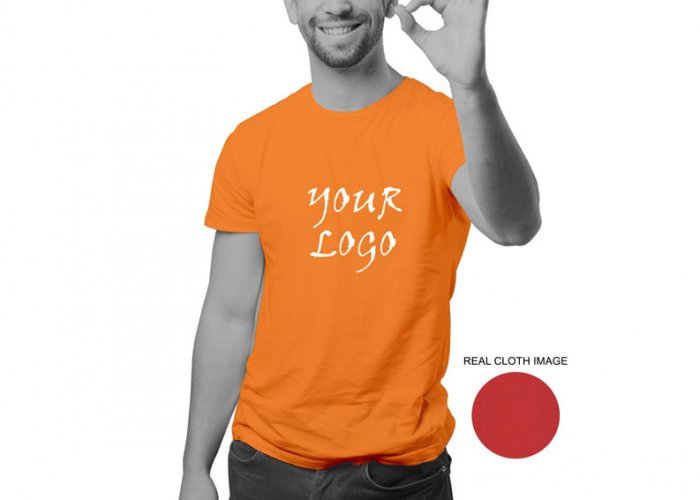af4937a99 Personalized Orange Promotional T-Shirt (Round Neck) / Micro Polyster - Dry  Fit