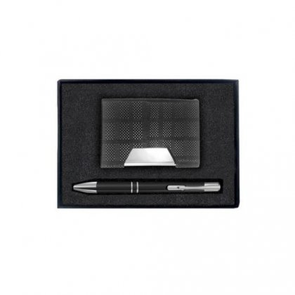 Gift Set Of Two (Card Holder- Pen)
