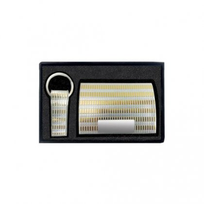 Gift Set Of Two (Card Holder And Keychain)