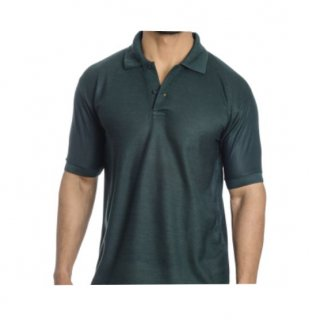 Personalized Polo T Shirt (Bottle Green) Polyester Cotton