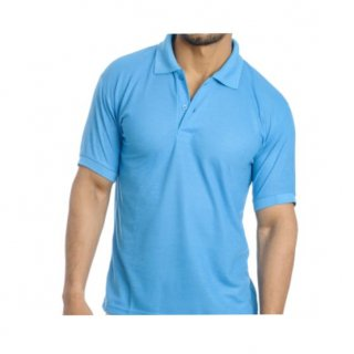 Personalized Polo T Shirt (Turquise) Polyester Cotton