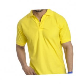 Personalized Polo T Shirt (Bright Yellow) Polyester Cotton