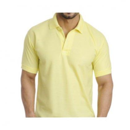 Personalized Polo T Shirt (Lemon Yellow) Polyester Cotton