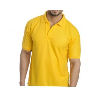 Personalized Polo T Shirt (Golden Yellow) Polyester Cotton