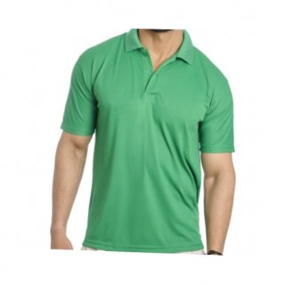 Personalized Polo T Shirt (Parrot Green) Polyester Cotton