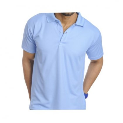 Personalized Polo T Shirt (Sky Blue) Polyester Cotton