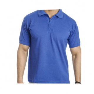 Personalized Polo T Shirt (Royal Blue) Polyester Cotton